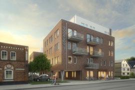 Neubau Mehrfamilienhaus mit Gewerbebetrieb, Lindenstraße 4-8, Pinneberg