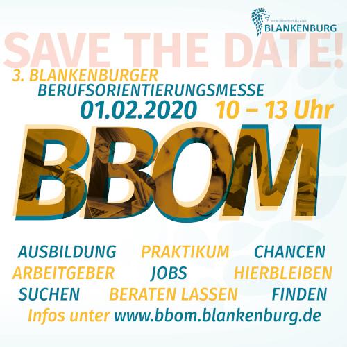 3. Blankenburger Berufsorientierungsmesse am 01. Feb 2020 von 10:00 – 13:00 Uhr
